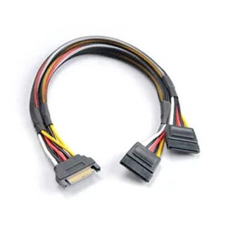 Akasa SATA Power Splitter - Male 15-pin SATA to 2 x 15pin SATA Female Power Connectors