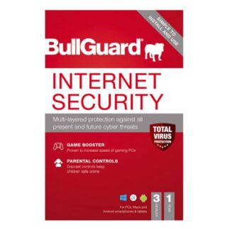 Bullguard Internet Security 2021 Retail Box - Single 3 User Licence - 1 Year - PC