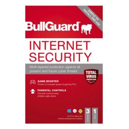 Bullguard Internet Security 2021 Retail Box - Single 3 User Licence - 1 Year - PC