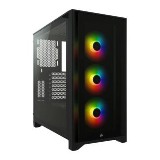 Corsair iCUE 4000X RGB Gaming Case with Tempered Glass Window