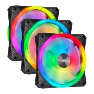 Corsair iCUE QL120 12cm PWM RGB Case Fans x3