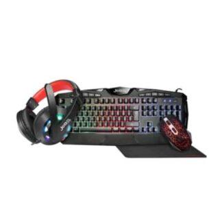 Jedel CP-04 Knights Templar Elite 4-in-1 Gaming Kit - Backlit RGB Keyboard