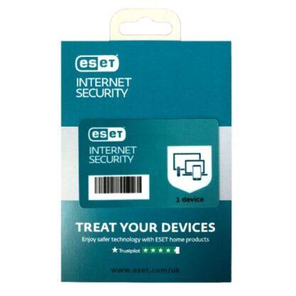 ESET Internet Security Retail Box Single – Single 1 Device Licence - 1 Year - PC