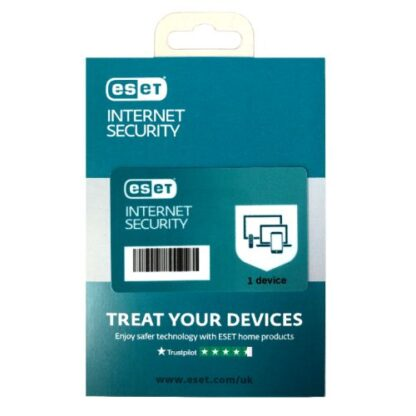 ESET Internet Security Retail Box 10 Pack – 10 x 1 Device Licences  - 1 Year - PC