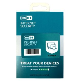 ESET Internet Security Retail Box Single – Single 5 Device Licence - 1 Year - PC