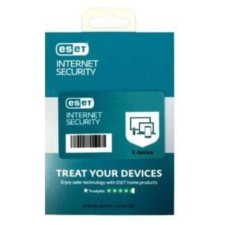 ESET Internet Security Retail Box Single – Single 5 Device Licence - 1 Year - PC