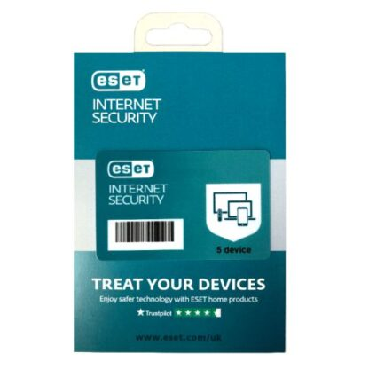 ESET Internet Security Retail Box 10 Pack – 10 x 5 Device Licences  - 1 Year - PC