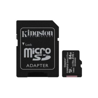 Kingston 64GB Canvas Select Plus Micro SD Card with SD Adapter