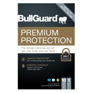 Bullguard Premium Protection 2021 Retail Box - Single 10 User Licences - 1 Year - PC