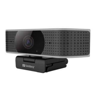 Sandberg Pro Elite 4K UHD Webcam with Noise-Reducing Stereo Mic