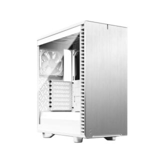 Fractal Design Define 7 Compact (White TG) Gaming Case w/ Clear Glass Window