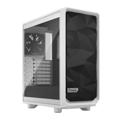 Fractal Design Meshify 2 Compact (White TG) Gaming Case w/ Clear Glass Window