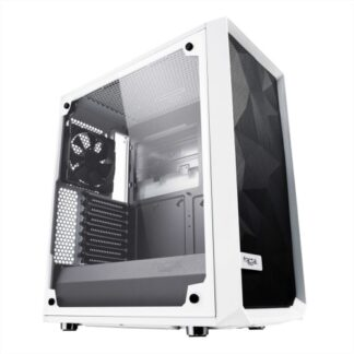 Fractal Design Meshify C (White TG) Gaming Case w/ Clear Glass Window