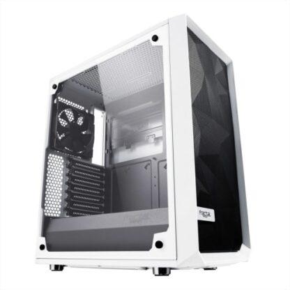 Fractal Design Meshify C (White TG) Gaming Case w/ Clear Glass Window