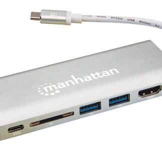 Manhattan USB-C Dock/Hub with Card Reader