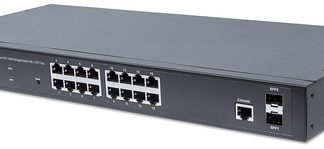 Intellinet 16-Port Gigabit Ethernet PoE+ Web-Managed Switch with 2 SFP Ports