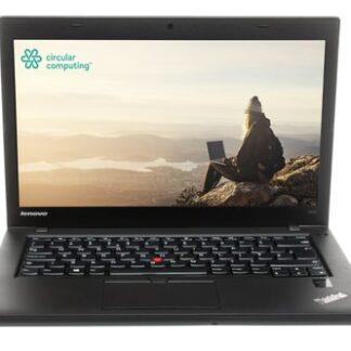 "Circular Computing Lenovo ThinkPad T450 Laptop - 14.0"" - HD (1366x768) - Intel Core i5 5th Gen 5200u - 8GB RAM - 256GB SSD - Windows 10 Professional - English (UK) Keyboard – Fully Tested Battery - Wifi Wireless LAN - Webcam - 1 Year Advance Replacement Warranty"