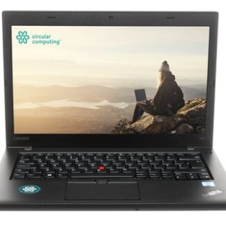 "Circular Computing Lenovo ThinkPad T460 Laptop - 14.0"" - HD (1366x768) - Intel Core i5 6th Gen 6200u - 8GB RAM - 256GB SSD - Windows 10 Professional - English (UK) Keyboard – Fully Tested Battery - Wifi Wireless LAN - Webcam - 1 Year Advance Replacement Warranty"