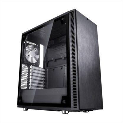Fractal Design Define C (Black TG) Quiet Gaming Case w/ Clear Glass Window