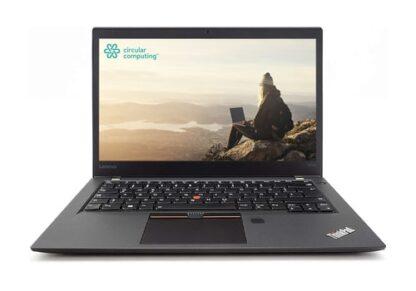 "Circular Computing Lenovo ThinkPad T470s Laptop - 14"" - Full HD (1920 x 1080) - Intel Core i5 7th Gen 7200u - 8GB RAM - 256GB SSD - Windows 10 Professional - English (UK) Keyboard -Fully Tested Original Battery-IEEE 802.11ac Wireless LAN-1 Year Advance Replacement Warranty"